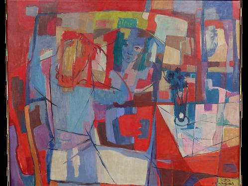 155// Stane Kregar:  Žena pred ogledalom