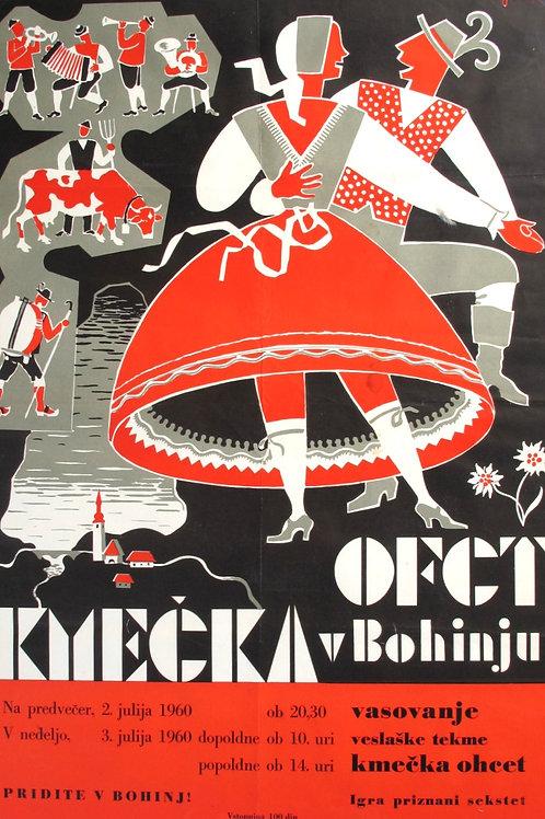 19// Kmečka ohcet v Bohinju 1960 - plakat