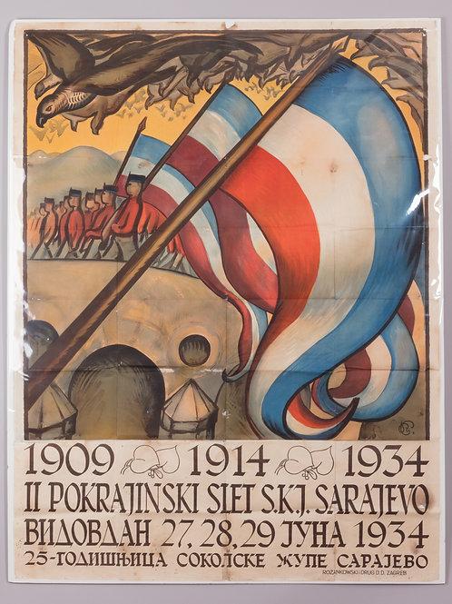 10. II. pokrajinski slet S. K. J. Sarajevo 1934