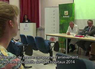 NIRAS-ONDRAF Persconferentie mei 2014 - Live Media Video Productions Brussels