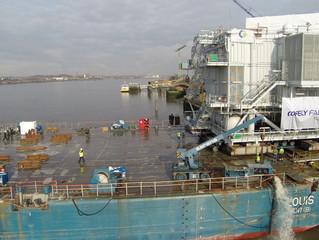 OHVS Transport en installatie van offshore hoogspanningsstation in windpark Luchterduinen