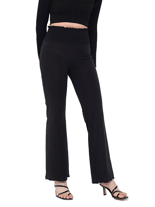 Ruched Pants BLACK