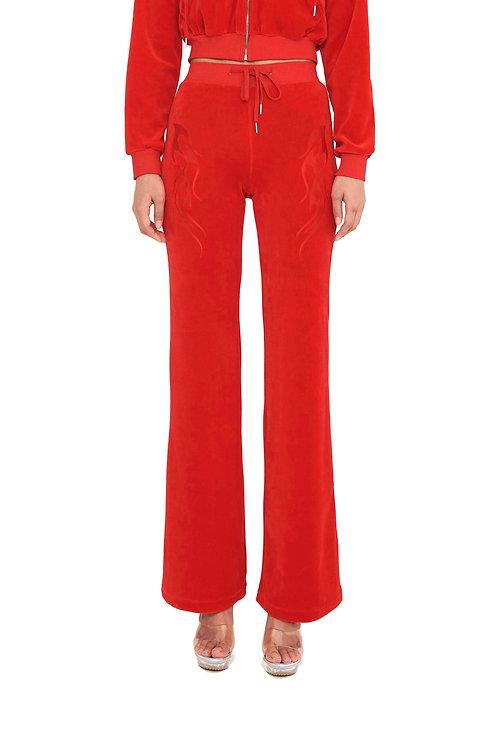 [SAMPLE] Velvet Flame Trackpants RED