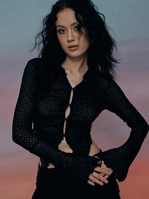 Chloe Lace Blouse BLACK
