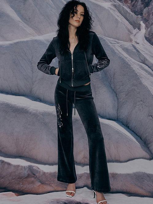Star Velvet Track Pants