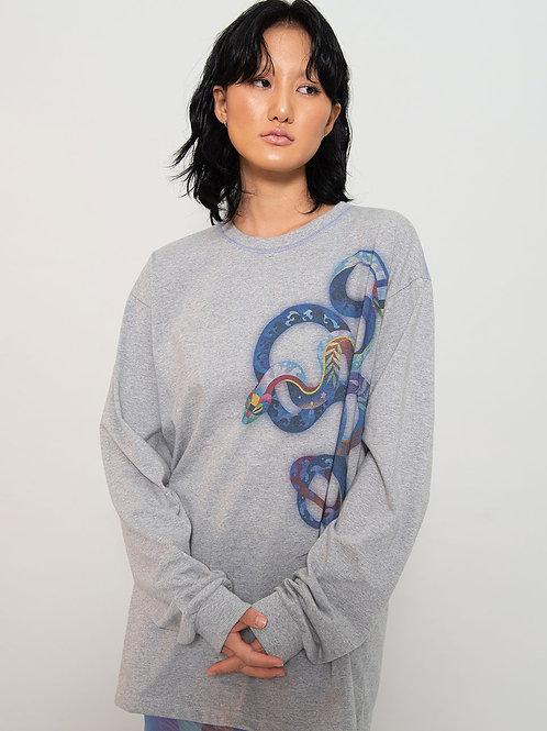 X Heeyajenny Grey Surf T Shirt (Unisex)