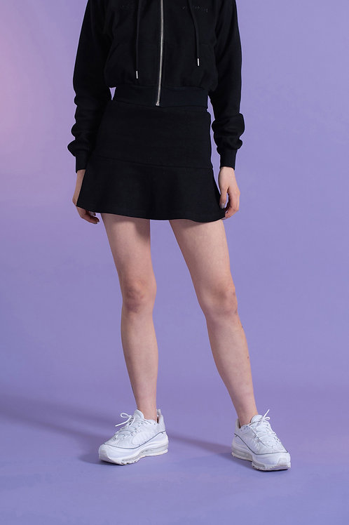 00s Mood Flare Mini Skirt BLACK