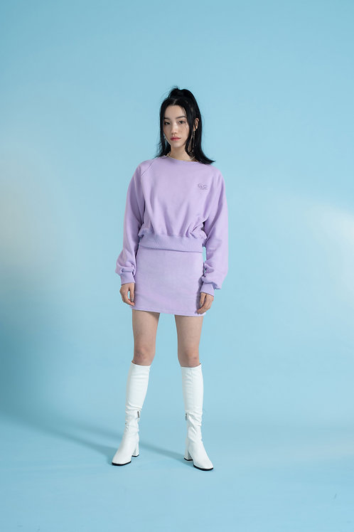 Cropped Sweatshirt PURPLE