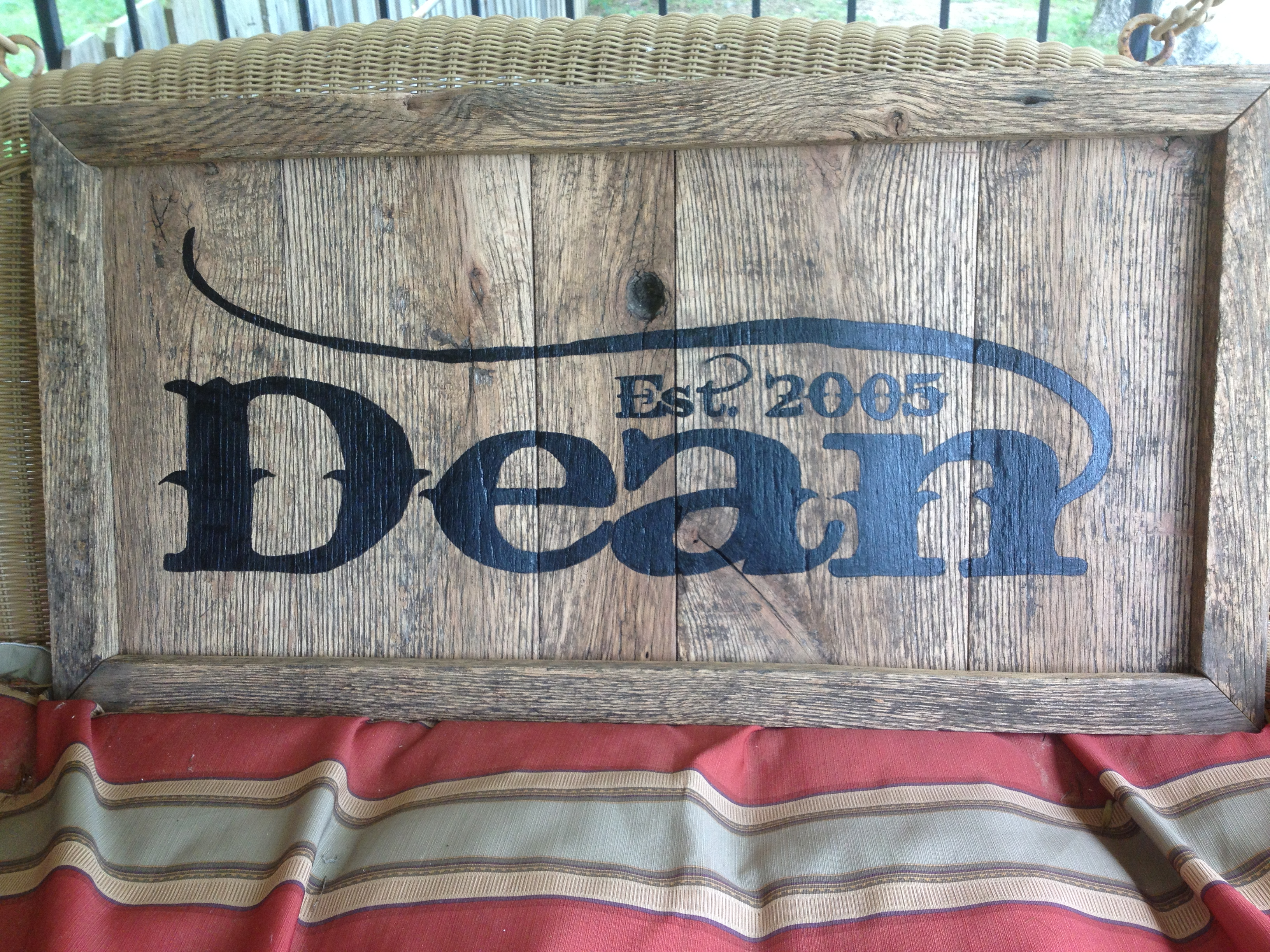 RUSTIC HANDPAINTED NAME SIGNS
