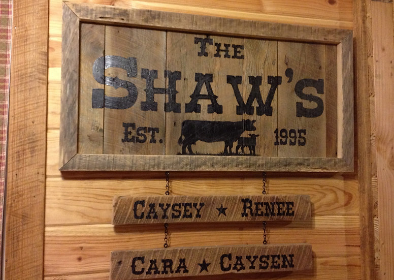 Accessories for Rustic Handpainted Family Signs