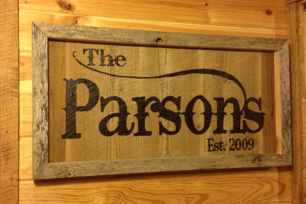 Rustic Handpainted Family Signs