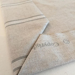 Mitre corner ready to hand stitch