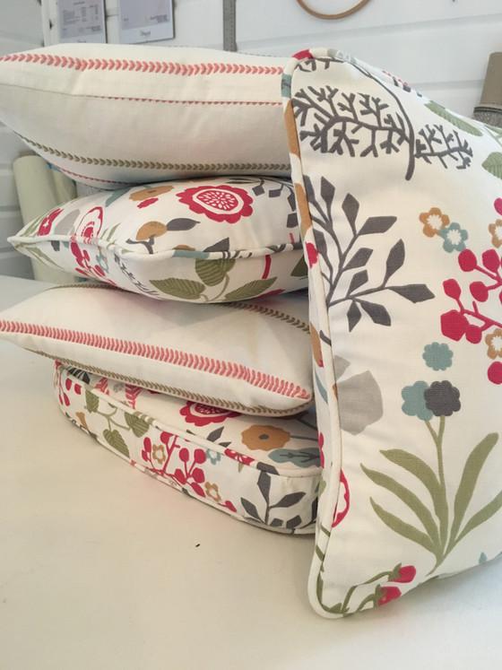 Cushions and pleats