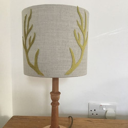 A change from #curtains I have made this lampshade with velvet appliqué #antlers I haven't done much