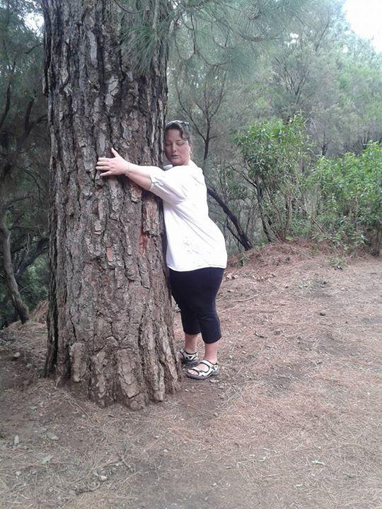 Körperwahrnehmung: Baum umarmen
