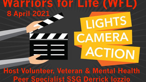 "Join Warriors for Life (WFL) Online Peer Support TONIGHT with Derrick - ""Lights! Camera! Action!"""