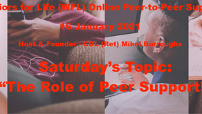 "TONIGHT Warriors for Life (WFL) Online ""Peer-to-Peer"" Support  - ""The Role of Peer Support!"""