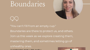 """Join TONIGHT's Warriors for Life (WFL) with Alia - """"The Importance of Boundaries"""""""