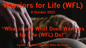 What's Warriors for Life (WFL) About & What Does it Do?  Tune in TONIGHT & Find Out!