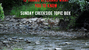 """Join Warriors for Life (WFL) TONIGHT Creekside Topic with Rick - """"15 Things Veterans Want to Know!"""""""