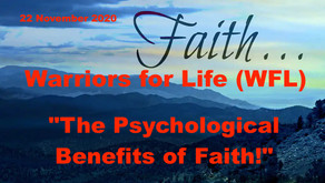 "Join Chris TONIGHT for his Final WFL Presentation - ""The Psychological Benefits of Faith!"""