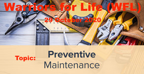 "Thursday Evening Warriors for Life (WFL) - ""Preventive Maintenance!"""