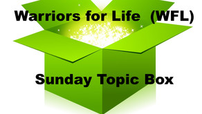Drop in TONIGHT for Warriors for Life (WFL) - the Sunday Topic Box with Rick Williamson!