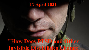 "TONIGHT Warriors for Life (WFL) - ""How Does PTSD and Other Invisible Disabilities Change Behavior!"""