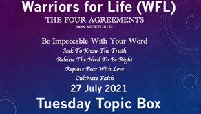 """Don't Miss Rick's Tuesday Topic Box TONIGHT with Warriors for life (WFL) - """"The Four Agreements!"""""""