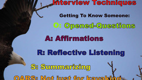 """TONIGHT the """"Sunday Topic Box"""" Addition of Warriors for Life (WFL) - """"Interviewing Techniques!"""""""