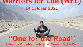 """Join Derrick TONIGHT for """"One for the Road"""" and Warriors for Life (WFL) Online Peer Group Support"""
