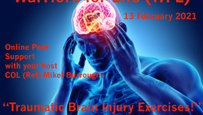"""Join Warriors for Life (WFL) Online Peer Support TONIGHT -""""Traumatic Brain Injury Exercises!"""""""