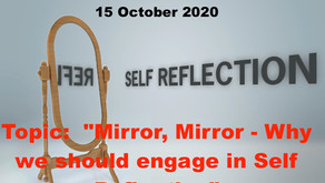 """Don't miss TONIGHT With Warriors for Life (WFL) - """"Mirror, Mirror!"""""""