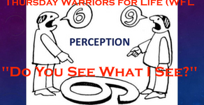 "Warriors for Life (WFL) with Derrick TONIGHT - ""Do You See What I See?"""