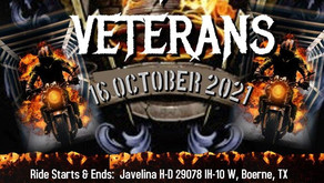Victory 4 Veterans VFVRIDE 2021 — Boerne/San Antonio, TX — 16 October 2021