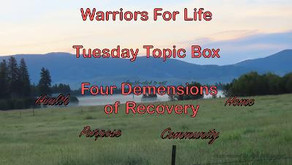 """TONIGHT Drop in and Join Rick for the Tuesday Topic Box - """"Four Dimensions of Recovery!"""""""