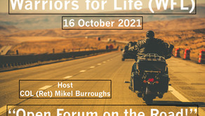 """Drop in TONIGHT for an Open Forum with Warriors for Life (WFL) and the """"Colonel!"""""""