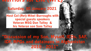 Join Warriors for Life (WFL) TONIGHT with Our Special Guests Speakers - Dan & Sam Talley