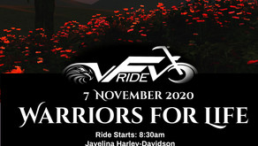"VFVRIDE 2020 ""Warriors for Life"" 3rd Annual Poker Run - San Antonio, TX - 7 November 2020"