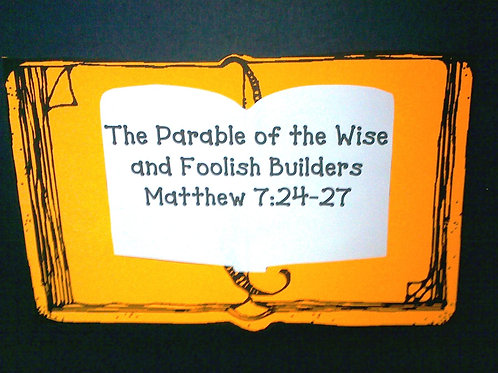 The Parable of the Wise and Foolish Builders Black light Story Kit