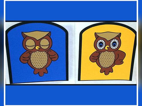 Ollie the Owl Day / Night Mitt