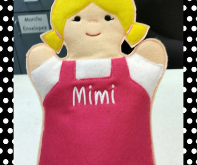 Our Mimi puppet is back in stock! Precious!
