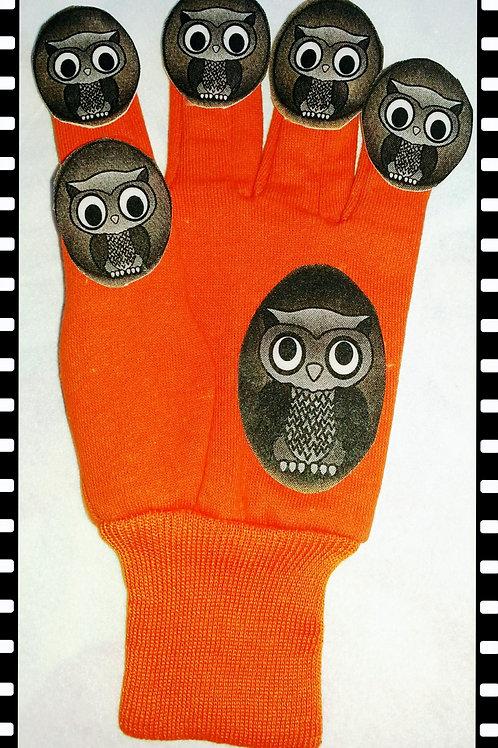 Five Little Owls glove puppet