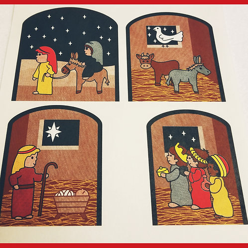 Birth of Jesus Sequence (Story) Mitts