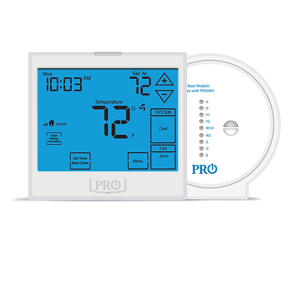 PRO1 Wireless Universal Touchscreen Thermostat T955WH