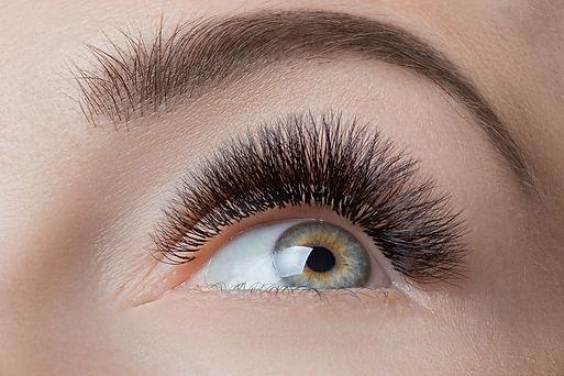 Macro photo female green eye with extrem