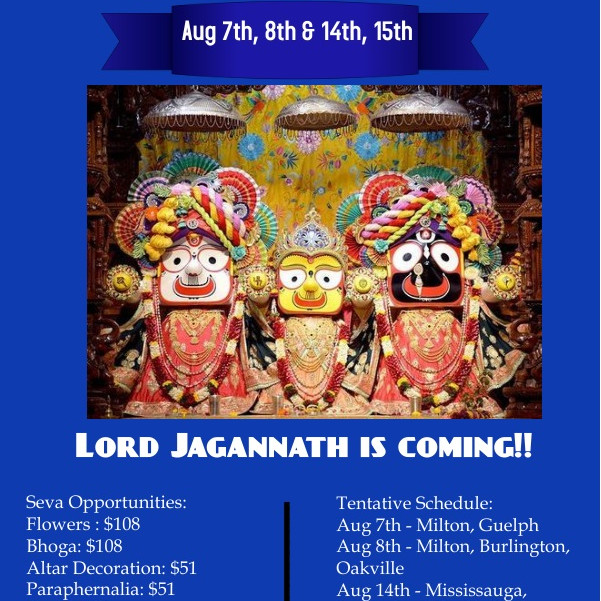 ISKCON Milton's Jagannath Rath Yatra