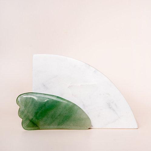 Gua Sha Piece ~ Indian Jade