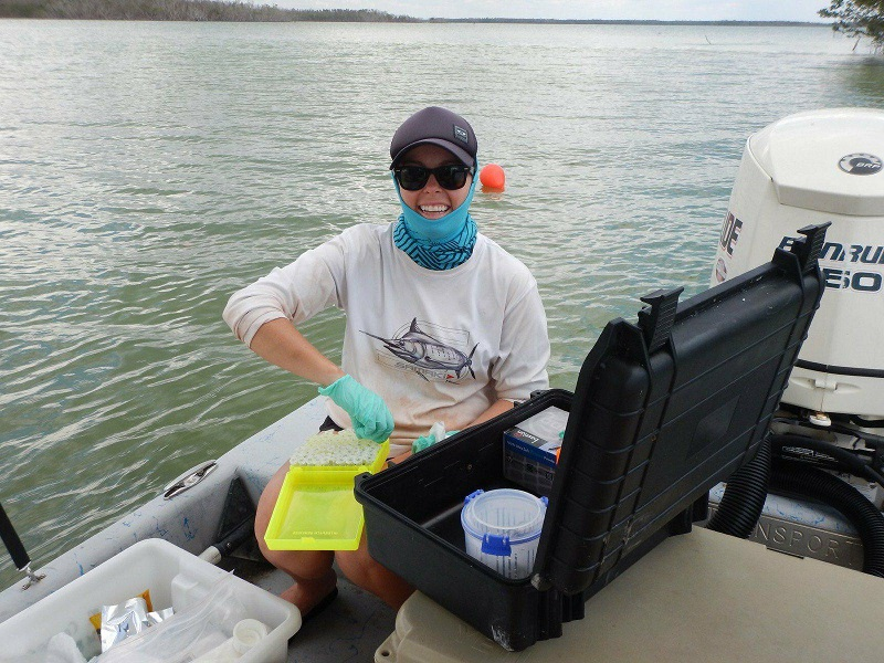 eDNA sampling in Everglades National Park, Florida, USA. Photo credit John Carlson