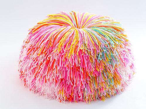 Pink Sprinkles Pom Pom Pouf